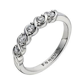 The Forever Diamond Palladium 950 1/4 Carat Diamond Ring - Product number 1299859