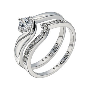 The Forever Diamond 9ct White Gold 2/5 Carat Bridal Set - Product number 1300105