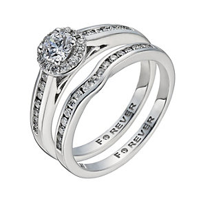 The Forever Diamond 18ct White Gold 2/3 Carat Bridal Set - Product number 1300504