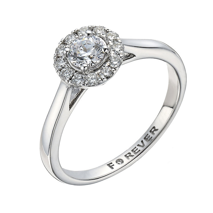 18ct White Gold 1/2 Carat Forever Diamond Ring - Product number 1300644