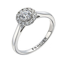 18ct White Gold 1/2 Carat Forever Diamond Solitaire Ring - Product number 1300644