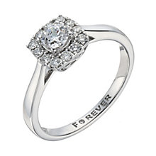 18ct White Gold 1/2 Carat Forever Diamond Cluster Ring - Product number 1300776