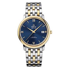 Omega De Ville men's blue dial two colour bracelet watch - Product number 1301004