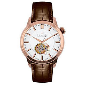 Dreyfuss & Co men's automatic brown leather strap watch - Product number 1301039