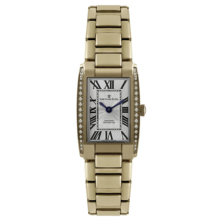 Dreyfuss & Co ladies' diamond rose gold-plated watch - Product number 1301128