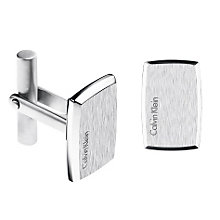 Calvin Klein Straight brushed stainless steel cufflinks - Product number 1301144