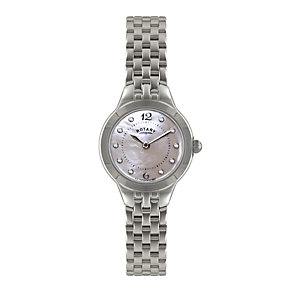 Rotary ladies' stone set stainless steel bracelet watch - Product number 1301349