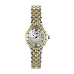 Rotary ladies' two tone stone set bracelet watch - Product number 1301357