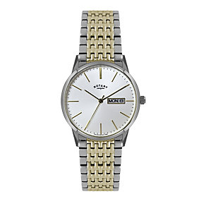 Rotary men's silver dial two colour bracelet watch - Product number 1301365