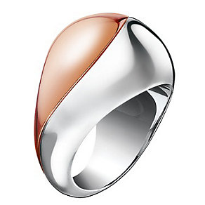 Calvin Klein Empathic steel & rose gold-plated ring - Product number 1301799