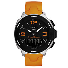Tissot T-Race men's steel orange rubber strap watch - Product number 1301985