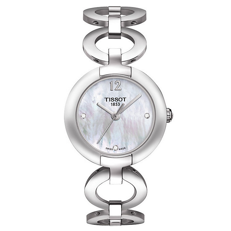Tissot ladies' stainless steel diamond bracelet watch - Product number 1302000