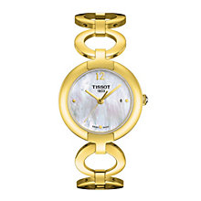 Tissot ladies' gold plated mother of pearl bracelet watch - Product number 1302019