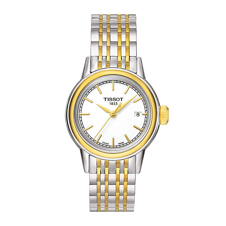 Tissot ladies' two colour bracelet watch - Product number 1302043