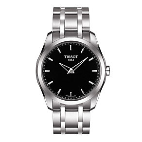 Tissot men's black dial stainless steel bracelet watch - Product number 1302140