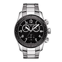 Tissot V8 men's black dial two colour bracelet watch - Product number 1302159