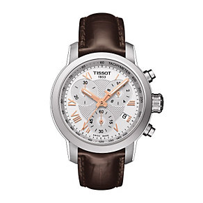 Tissot ladies' stainless steel brown leather strap watch - Product number 1302175