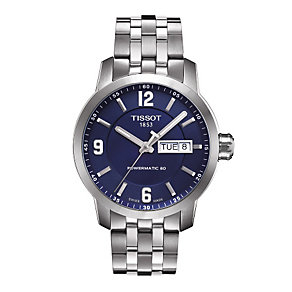 Tissot men's blue dial stainless steel bracelet watch - Product number 1302191