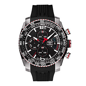 Tissot men's stainless steel black rubber strap watch - Product number 1302221