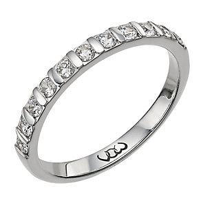 Vow 18ct white gold 0.33ct diamond bar eternity ring - Product number 1302884
