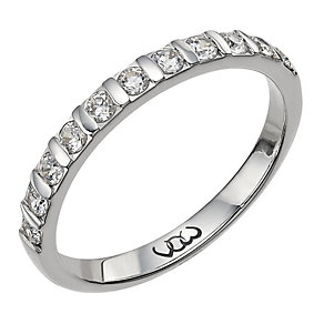 Vow 9ct white gold 0.33ct diamond bar eternity ring - Product number 1303414