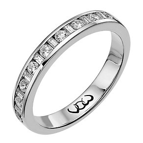 Vow 9ct white gold 0.33ct baguette & round diamond ring - Product number 1303554