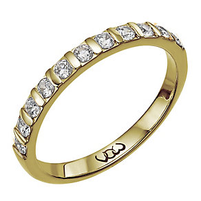 Vow 9ct gold 0.33ct diamond bar eternity ring - Product number 1303686
