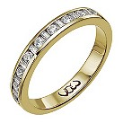 Vow 9ct gold 1/3 carat baguette & round channel diamond ring - Product number 1303805