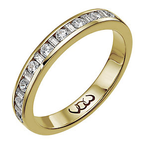 Vow 9ct gold 0.33ct baguette & round channel diamond ring - Product number 1303805