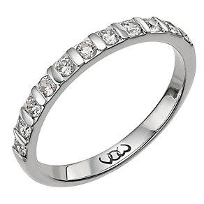 Vow Palladium 950 0.33ct diamond bar eternity ring - Product number 1303937
