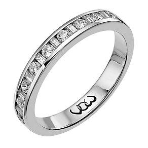 Vow Palladium 950 0.33ct baguette & round diamond ring - Product number 1304070