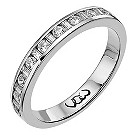 Vow Platinum 0.33ct baguette & round diamond channel ring - Product number 1304321