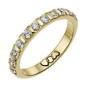 Vow 9ct gold 0.50ct diamond bar eternity ring - Product number 1305255