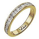 Vow 9ct gold 1/2 carat baguette & round diamond channel ring - Product number 1305395