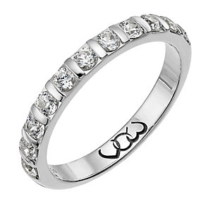 Vow Platinum 0.50ct diamond bar eternity ring - Product number 1305794