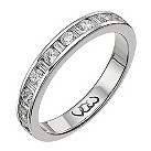 Vow Platinum 0.50ct baguette & round diamond channel ring - Product number 1305913