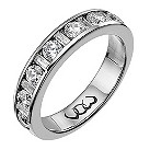 Vow 18ct white gold one carat baguette & round diamond ring - Product number 1306189