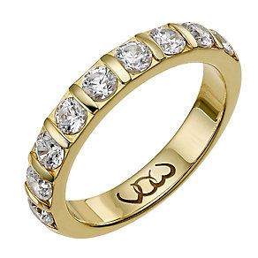 Vow 18ct yellow gold one carat diamond bar eternity ring - Product number 1306316