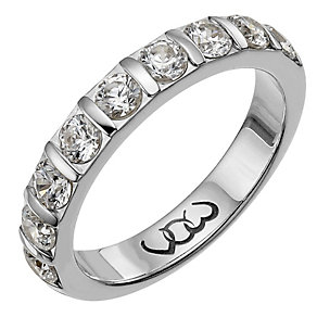 Vow 9ct white gold one carat diamond bar eternity ring - Product number 1306561