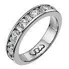 Vow 9ct white gold one carat baguette and round diamond ring - Product number 1306707