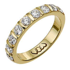Vow 9ct gold one carat diamond bar eternity ring - Product number 1306839