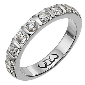 Vow Palladium 950 one carat diamond bar eternity ring - Product number 1307118