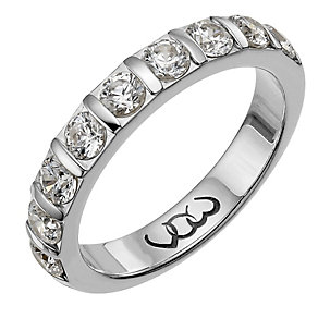 Vow Platinum one carat diamond bar eternity ring - Product number 1307363