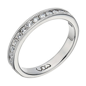 Vow 9ct white gold 0.33ct beaded eternity ring - Product number 1307630