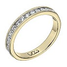 Vow 9ct yellow gold 1/3 carat beaded eternity ring - Product number 1307770