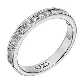 Vow 18ct white gold 0.33ct beaded eternity ring - Product number 1308025