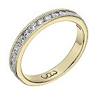 Vow 18ct yellow gold 1/3 carat beaded eternity ring - Product number 1308157