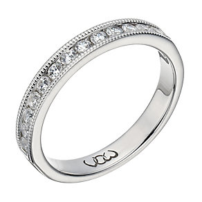 Vow platinum 0.33ct beaded eternity ring - Product number 1308297