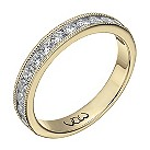 Vow 9ct yellow gold 1/2 carat beaded eternity ring - Product number 1308556