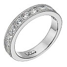 Vow 9ct white gold one carat beaded eternity ring - Product number 1309226